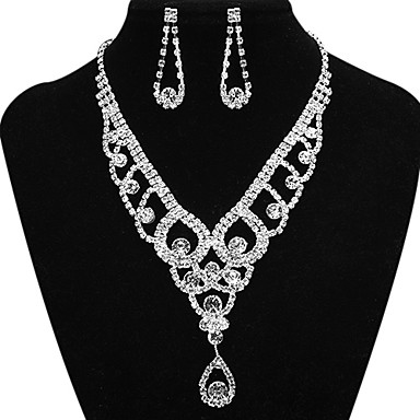 Jewelry Necklaces / Earrings Party / Daily / Casual Copper 1set Women Silver Wedding Gifts