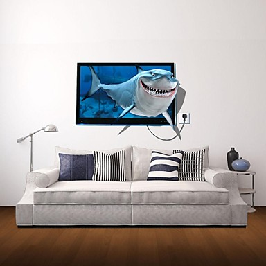 3D Wall Stickers Wall Decals, Shark Decor Vinyl Wall Stickers