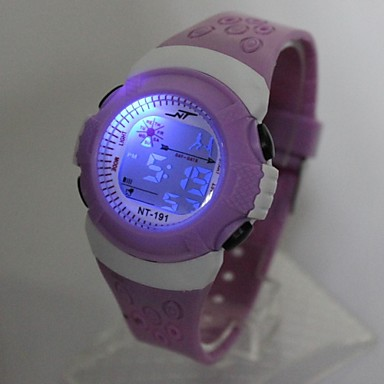 Quartz Digital Digital Watch Wrist Watch Casual Watch Silicone Band Fashion Cool Purple