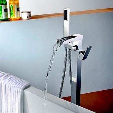 Badewannenarmaturen - Moderne Chrom bodenmontiert Keramisches Ventil