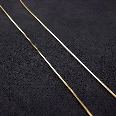 Erkek Kadın Çiftlerin Zincir Kolyeler Altın Kaplama Mücevher Için Düğün Parti Günlük Spor 1pc