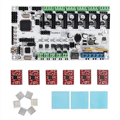 geeetech 3D-s nyomtató 1 x rumba + 6 x a4988 taposógép vezető + 6 x hűtőborda + 3 x matrica készlet