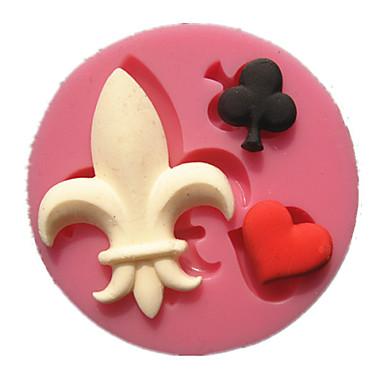 poker prune noire rouge joker coeur moules à gâteaux en forme de fondant au chocolat moule décoration pour la cuisine cuisson du sucre