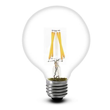 1pc 350 lm E26/E27 LED Filament Bulbs G60 4 leds COB Warm White AC 110-130V AC 220-240V