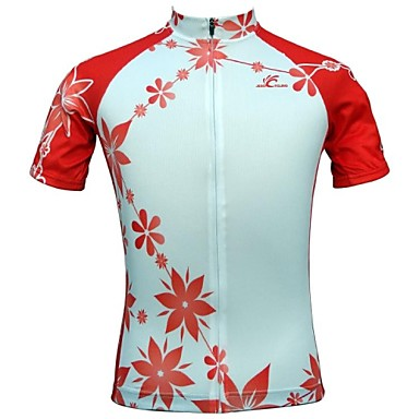 JESOCYCLING Női Rövid ujjú Keréspáros dzsörzé Virágos / Botanikus Bike Dzsörzé, Gyors szárítás, Légáteresztő