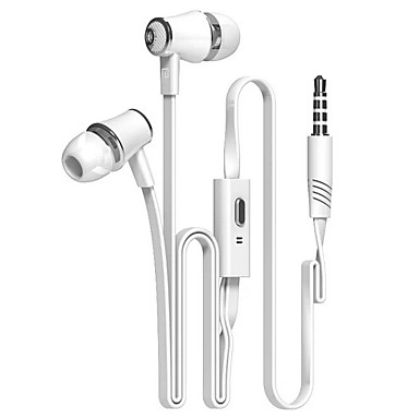 In Ear Wired Headphones Plastic Mobile Phone Earphone with Microphone Headset