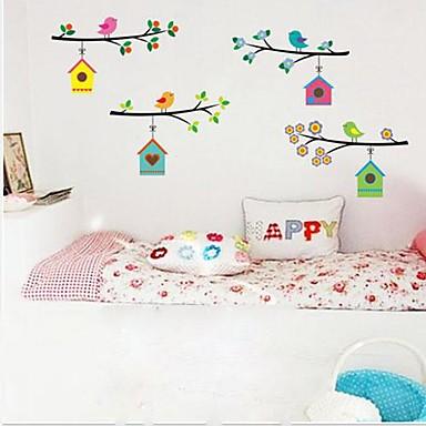 Tiere Menschen Stillleben Romantik Mode Botanisch Wand-Sticker Flugzeug-Wand Sticker Dekorative Wand Sticker, Vinyl Haus Dekoration