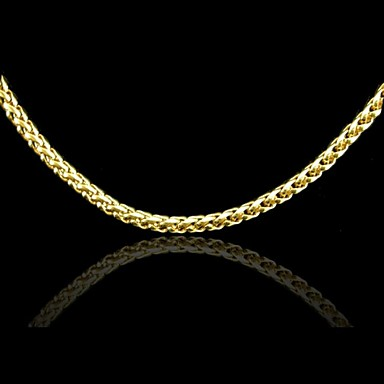 Men's Women's Chain Necklace Gold Plated Chain Necklace , Wedding Party Daily Casual Sports