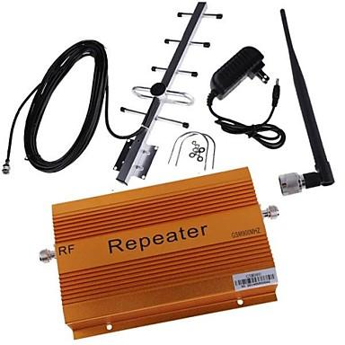 haute 70db de gain gsm980 900mhz amplificateur de signal mobile avec fouet et antenne Yagi couverture 2000m²