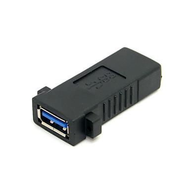 USB 3.0 female-nő kiterjesztése exteder csatoló adapter panel szerelőlyuk