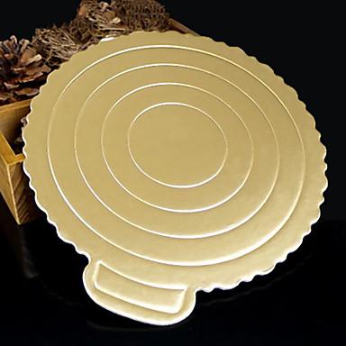 goud roundles papieren pakking mousse taart harde papieren pakking (8inch)