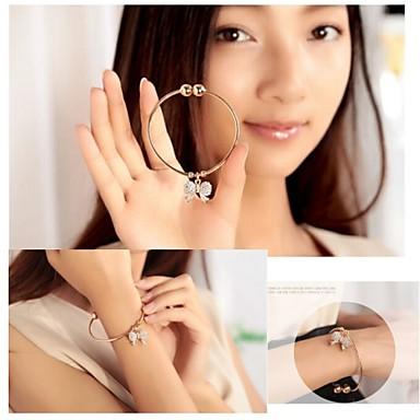 Femme Manchettes Bracelets Ajustable Ouvert Imitation Diamant Alliage Bijoux Pour Soirée Quotidien Décontracté
