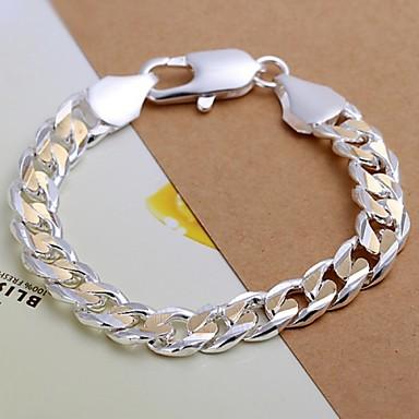 Homme Chaînes & Bracelets - Plaqué argent Bracelet Pour Regalos de Navidad / Mariage / Soirée