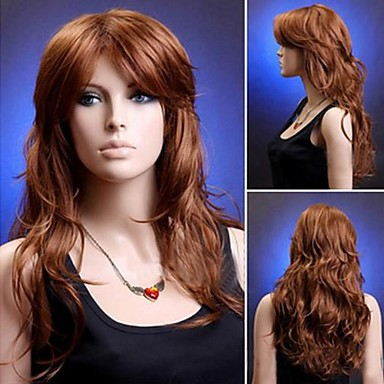 Women Synthetic Wig Long Golden/Brown Cosplay Wigs Halloween Wig Carnival Wig Costume Wig