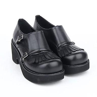 Cipők Punk Lolita Női Lány Fekete Lolita kiegészítők Műbőr/Poliuretán bőr