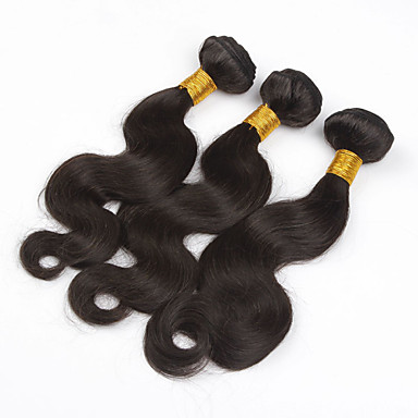 Hiukset kutoo Brasilialainen Runsaat laineet 6 kuukautta 3 osainen hiukset kutoo