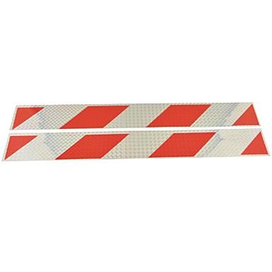 auto vrachtwagen universele parallellogram soort reflecterende stickers (2 stuks) - zilver&rood