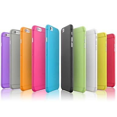 Pouzdro Uyumluluk Apple iPhone 8 iPhone 8 Plus iPhone 6 iPhone 6 Plus iPhone 7 Plus iPhone 7 Ultra İnce Arka Kapak Tek Renk Sert PC için