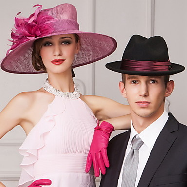 abordables Coiffes-femmes de lin populaires en plein air / banquet / occasionnel / travellings chapeaux à plume