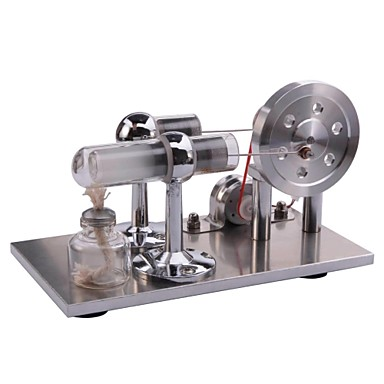 LJKGDQ Stirling Machine Motormotor modell Kirakati bábu Modeli i makete Tudományos játékok Fejlesztő játék Játékok Négyzet LED DIY
