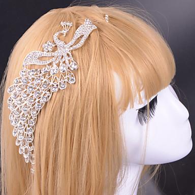 Aluminiowe tiary headpiece wesele eleganckie klasyczne kobiece