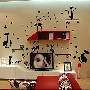 Autocolantes de Parede Decorativos - Etiquetas de parede de animal Abstrato / Animais / Vida Imóvel Sala de Estar / Quarto / Sala de