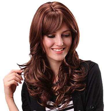 Synthetic Hair Wigs Curly With Bangs Daily