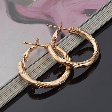 Oorknopjes Cirkelvorm Geometrische vorm Goud Sieraden Voor 2 stuks