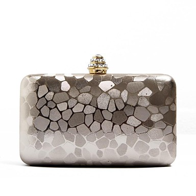 Women's Bags PU Evening Bag for Event/Party All Seasons Gold Silver