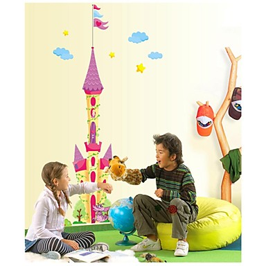 Wall Stickers Wall Decals, Style Cartoon Castle PVC Wall Stickers