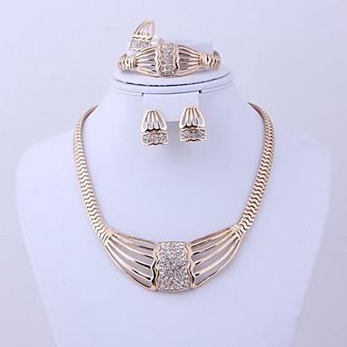 Jewelry-Necklaces / Earrings / Rings / Bracelets & Bangles(Alloy / Rhinestone)Wedding / Party / Daily Wedding Gifts