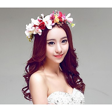 Resin Fabric Polyester Rubber Alloy Flowers Wreaths Headpiece