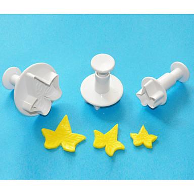 fire-c eføy blad plast fondant kake dekorert stempelet cutter, klassiske fondant verktøy, kake verktøy