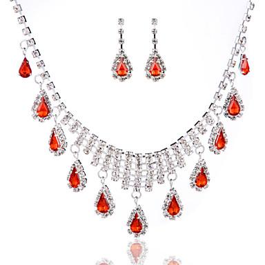 Ensemble de bijoux Femme Anniversaire / Mariage / Fiançailles / Cadeau / Occasion spéciale Parures Alliage StrasColliers décoratifs /