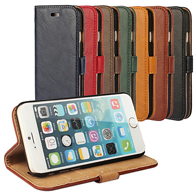 Case For Apple iPhone 6 iPhone 6 Plus Card Holder with Stand Full Body Cases Solid Color Hard Genuine Leather for iPhone 6s Plus iPhone