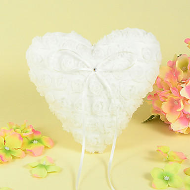 Strass Linten Satijn Ring Kussen Bloemen Thema
