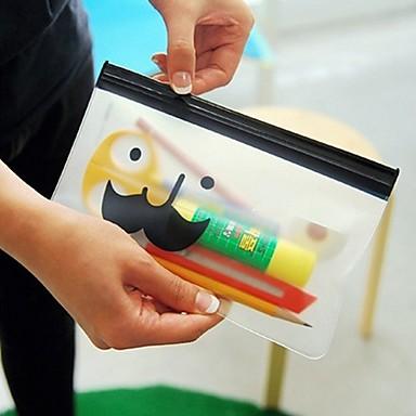 Mr.Beard Transparent  Storage Bag Stationery Bag Random Delivery