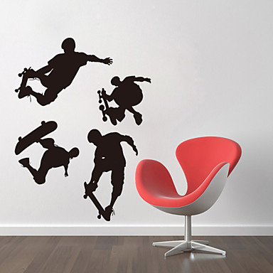 People Cartoon Wall Stickers Plane Wall Stickers Decorative Wall Stickers, Vinyl Home Decoration Wall Decal Wall