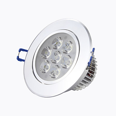 LED Downlights Recessed Retrofit 7 High Power LED 560 lm Warm White Cold White 2800-6500 K Decorative AC 85-265 V
