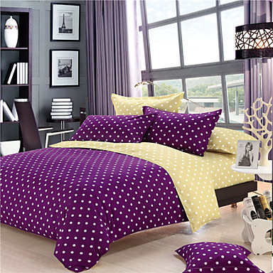 g om trique polyester 4 pi ces ensembles housse de couette. Black Bedroom Furniture Sets. Home Design Ideas
