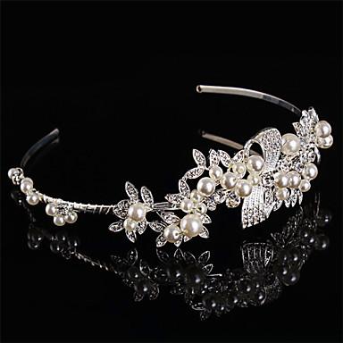 preiswerte Haarschmuck-Perle Sterling Silber Strass Stirnbänder 1 Hochzeit Kopfschmuck