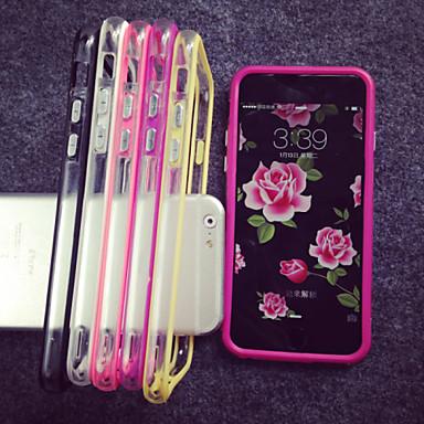 Case Kompatibilitás Apple iPhone 8 iPhone 8 Plus iPhone 5 tok iPhone 6 iPhone 6 Plus iPhone 7 Plus iPhone 7 Átlátszó Védőkeret Tömör szín