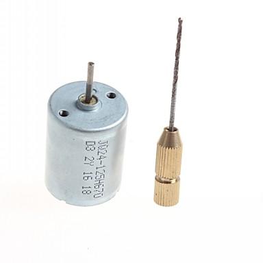 magas minőségű diy házi motoros mikrofúró - (ezüst színű) 1db