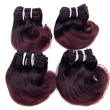 4 pakker Brasiliansk hår Krop Bølge Ubehandlet hår Nyanse 8 tommers Nyanse Hårvever med menneskehår Hairextensions med menneskehår