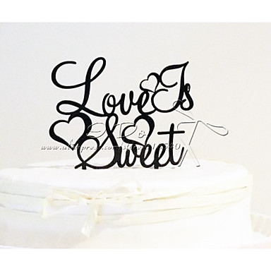 Cake Topper Garden Theme Acrylic Wedding Anniversary Bridal Shower with 1pcs OPP