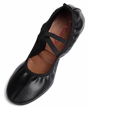 Women's Dance Shoes Sneakers Leather Low Heel Red/Fuchsia/Black