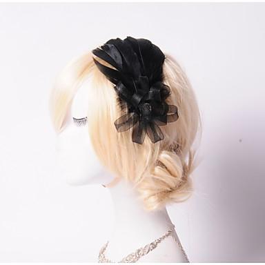 Women/Flower Girl Feather/Rhinestone/Net Flowers With Rhinestone Wedding/Party Headpiece