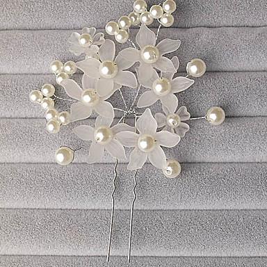 abordables Bijoux de Cheveux-Femme / Jeune bouquetière Alliage / Imitation de perle / Acrylique Casque-Mariage / Occasion spéciale Fleurs / Epingle à Cheveux