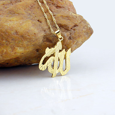 Erkek Kadın Uçlu Kolyeler Altın Kaplama Moda Altın Mücevher Için Düğün Parti Günlük 1set