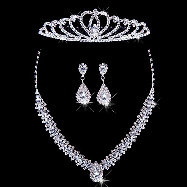 Women's Others Jewelry Set Earrings / Necklace / Tiaras - Regular For Wedding / Party / Special Occasion
